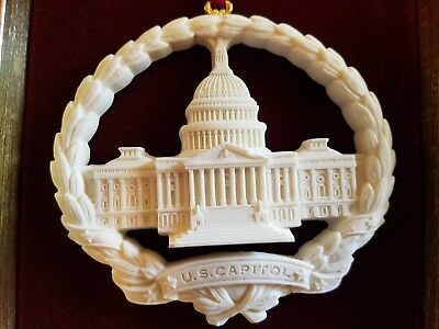 UNITED STATES US CAPITOL ORNAMENT - made from the original capitol steps