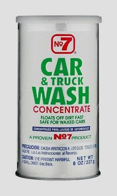 NO7 CAR & TRUCK WASH Powder Concentrate Vehicle Soap Cleaner Safe on Wax 8 Oz