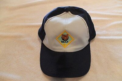 "BOY / CUB SCOUT ""BEAR"" HAT CAP - Small / Medium - OFFICIAL BSA adjustable"