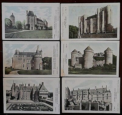 Collection of the Pautauberge Solution Cards, French Chateaus, x 9, Printed in F