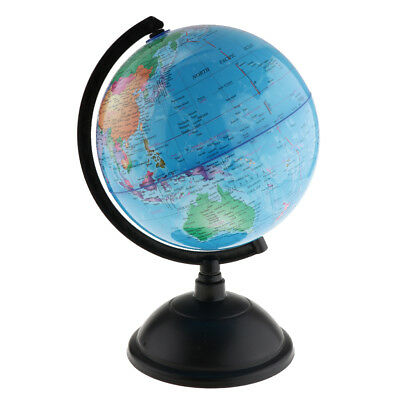 30cm Swivel Stand World Globe for Desk Decoration Geography Education Blue