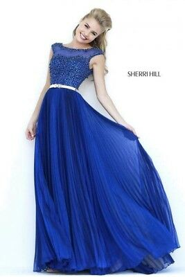 Sherri Hill Dress Navy UK Size 6 . Great Price , Reduced To Sell