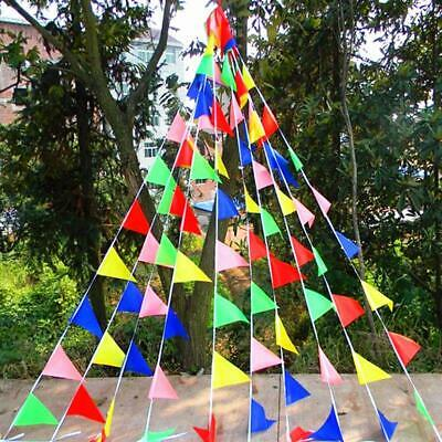 Triangle Flags Bunting Banner Pennant Festival Wedding Party Decor 50/ 80M UK