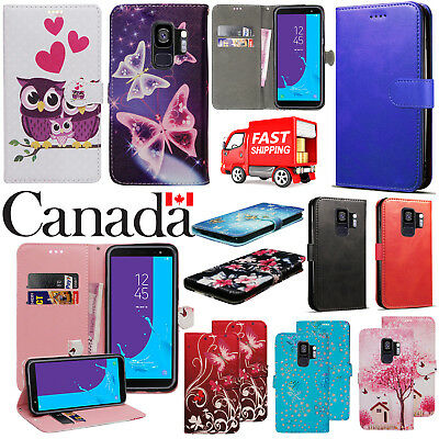 For Samsung Galaxy S9 Premium Leather Wallet Book Stand View Card Case Cover