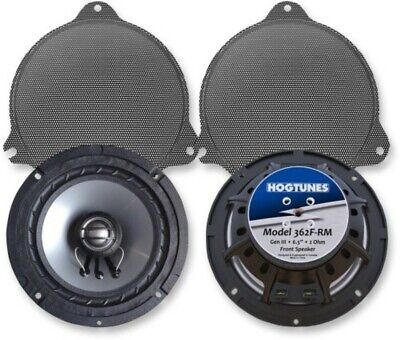 "Hogtunes Gen3 6.5"" Front Speakers & Grills for Harley Touring 14-18"
