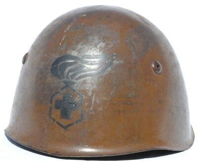 Italy M33 Helmet Camouflage Tropical Tan Africa Chemical Unit Painted Insignia