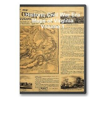 90 Rare Historic Civil War Maps of Virginia Vol 1 - CD - B19