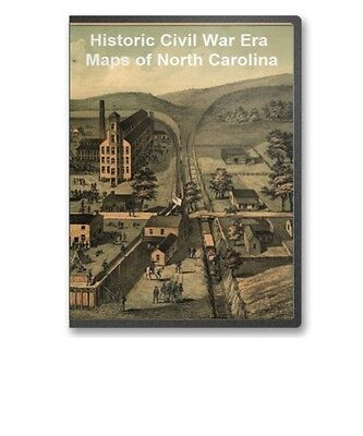 47 Rare Historic Civil War Maps of North Carolina NC -  CD - B11