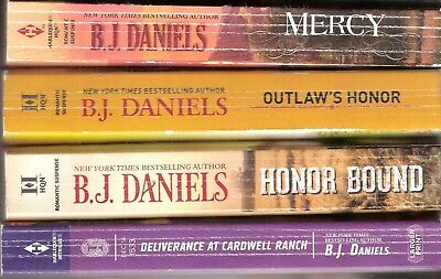 4 PB's~B.J.DANIELS~Mercy, Honor Bound, Outlaw's Honor, Deliverance at Cardwell .