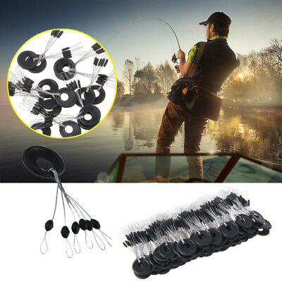 100PCS/Set Fishing Auxiliary Tool Fish Float Stopper Silicone Connector