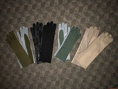 NOMEX FLIGHT Pilot FIRE RESISTANT Gloves Black, Green, Tan, Sage - All Sizes