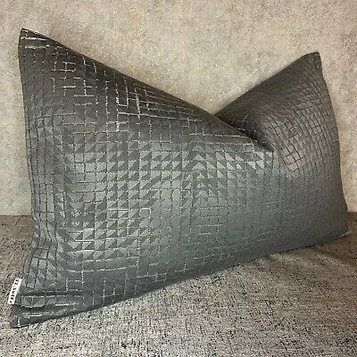 """* John Lewis /""""TINA/"""" Cushion Cover Abstract Design Fabric Contemporary Style Grey"""