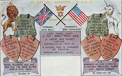 Postcard        Lost Israel Found In The Anglo-Saxon Race        Jewish Interest