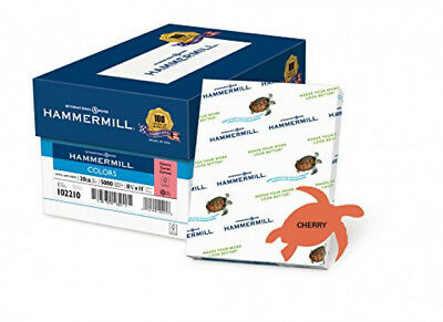 Hammermill Paper Colors Cherry 20# 8.5x11 Letter 5000 Sheets/10 Ream Case