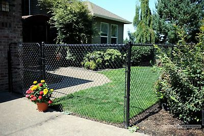 Black PVC Coated Chain Link Wire Mesh Fence 1.5m High 20 Meter Long 60x60mm