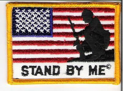 """Military Patch  """" American Flag """"  Stand By Me"""