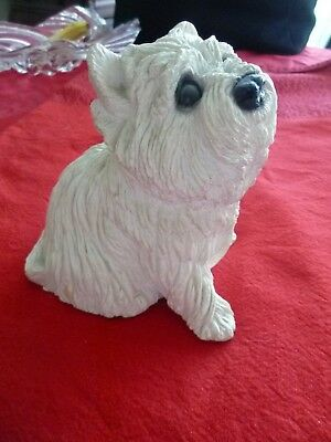 Collectible Vintage 1984 Classic Critters Westie figure, coin included Adorable!