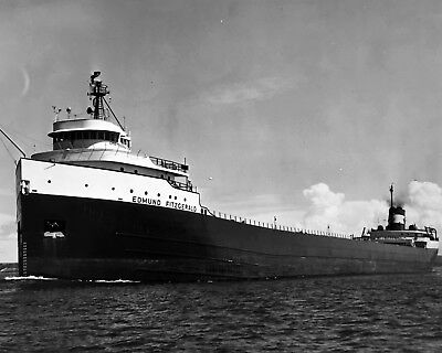 New 11x14 Photo: SS Edmund Fitzgerald, Ill-Fated Great Lakes Freighter Ship