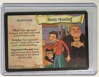HARRY POTTER Adventure: HARRY HUNTING 23/116 ©2001 Rare MINT CONDITION Card