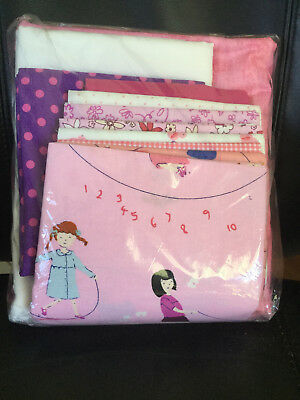 Four Patch Fun Pink Patchwork Quilt Kit - pattern by It's So Emma
