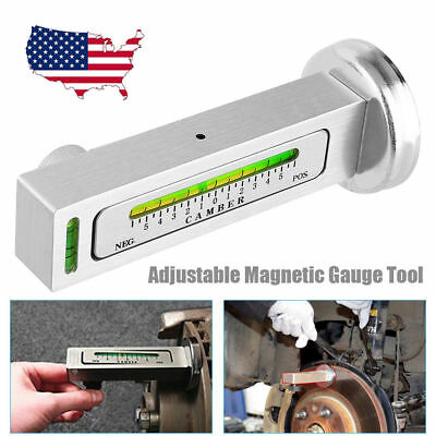 Magnetic Adjustable Gauge Tool Car Truck Camber Castor Strut Wheel Alignment Kit
