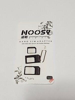 Noosy Nano to Micro / Standard SIM Card Adapter for Any Carrier .Buy 2get 1 free