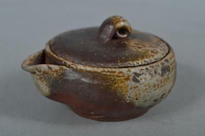 M8430: Japanese Bizen-ware Youhen pattern for Gyokuro TEA POT Houhin Sencha