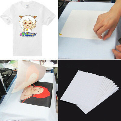 20pc T-Shirt A4 Transfer Paper Iron On Heat Press Non-cotton Fabric Inkjet Print