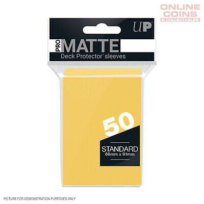 ULTRA PRO Standard Deck Protector Sleeves 50 Pack - Pro-Matte YELLOW