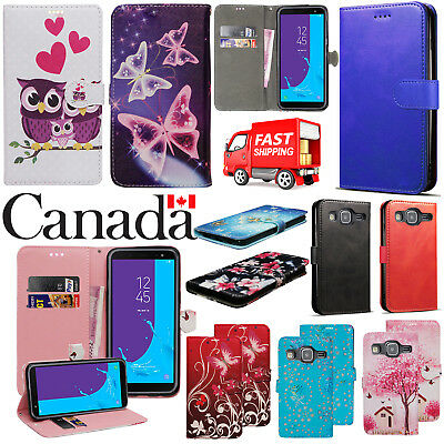 Magnetic Flip PU Leather Card Wallet Stand Case Cover For Samsung Galaxy J3 2016