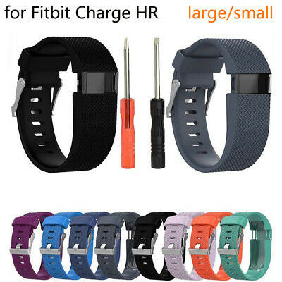Replacement Silicone Wristband Strap Band  L/S Bracelet For Fitbit Charge HR