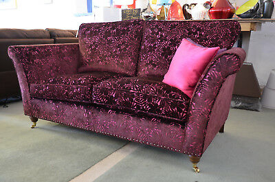 Stanton Sofa In Purple Velvet Fabric