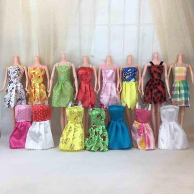 12pcs/set Handmade Party Dress Clothes For Barbie Doll Kids Toys 28CM Gifts KZ
