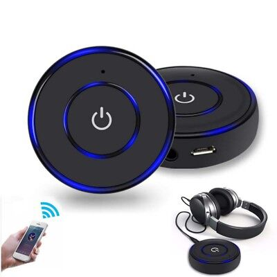 Wireless Bluetooth 3.5mm AUX Audio Stereo Music Home Car Receiver Adapter w/Mic