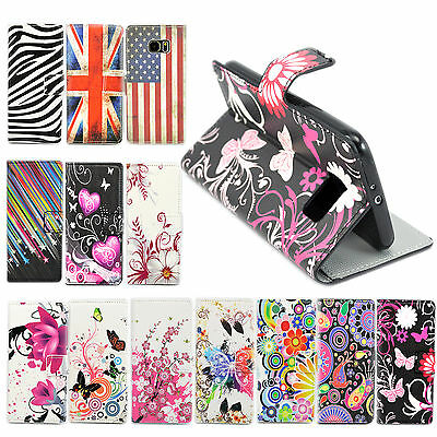 Leather Print Magnetic Wallet Stand Cell Phone Case Cover For Samsung Galaxy S6