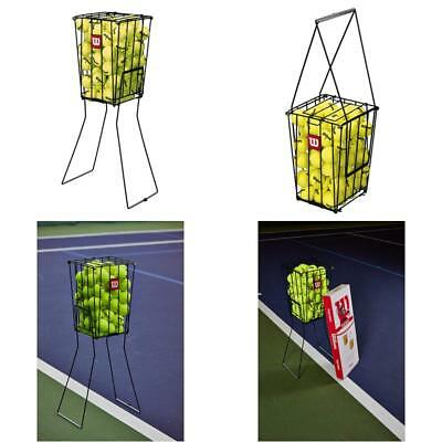 Portable Tennis Ball Basket Pick Up Hopper Holds 75 Balls Compact Storage New
