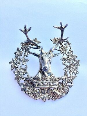 Scottish GORDON HIGHLANDERS Officer Silver Badge Birmingham Marks WW1