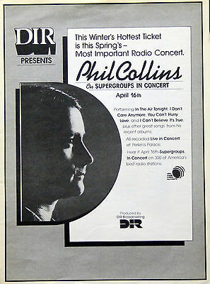 Genesis Phil Collins Vintage & Rare Promotional Ads Collection