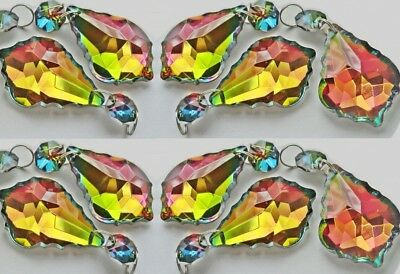 10 Gothic Colour Ab Chandelier Glass Crystals Leaf Droplets Prisms Wedding Beads