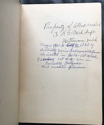 Andersonville Prison POW Signed 2nd Michigan Infantry Custer Brigade Civil War