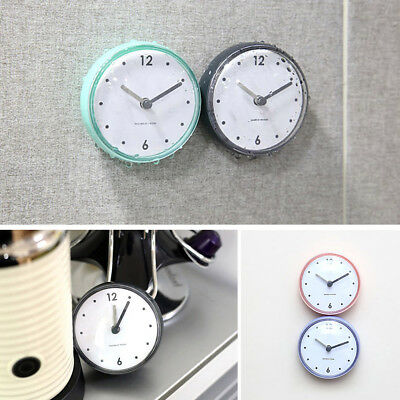 Qa_ Waterproof Bathroom Bath Shower Wall Clock Suction Cup Sucker Home Decor S
