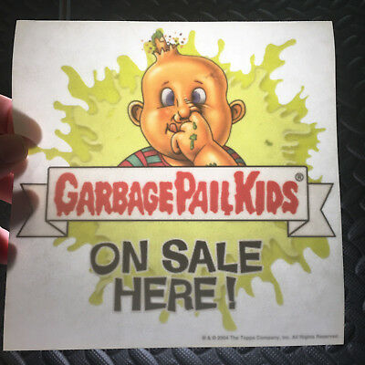 Garbage Pail Kids Ans1 2004 All-New Series 1 Promotional Window Cling Dealer Ad!