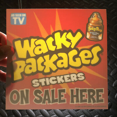Wacky Packages Ans1 2004 All-New Series 1 Promotional Window Cling Dealer Ad!