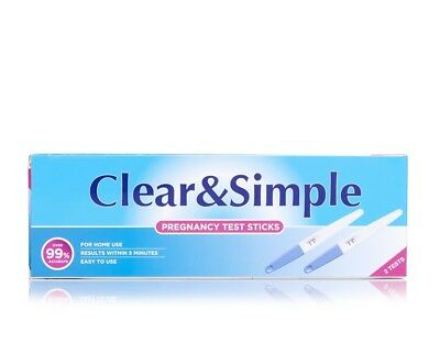 Pregnancy Test Sticks 2pk Healthpoint Clear & Simple over 99% accurate