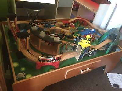 MOUNTAIN ROCK WOODEN Train Track Table Play Set, 100 Piece Model ...