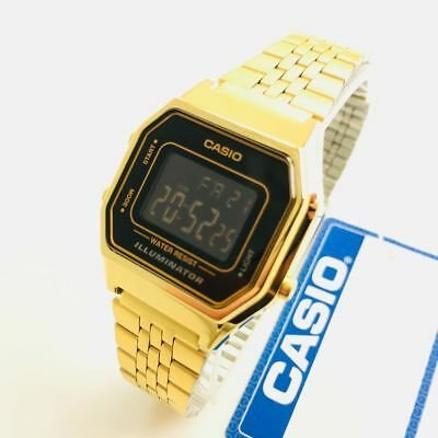 Women's Casio Classic Black Digital Gold Tone 25 mm Watch LA680WGA-1BD