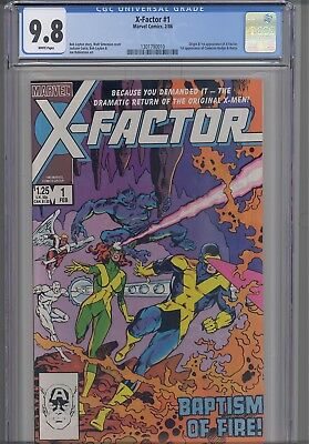 X-Factor #1  CGC 9.8 1986 Marvel Secret Wars too!: Origin Issue! NEW CGC Frame