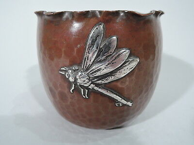 Gorham Bowl - 50 - Japonesque Dragonfly - American Mixed Metal Silver Copper