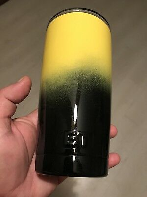 2d74a5b9f2a YETI 20 OZ Rambler Powder Coated Yellow-Black Ombré New Authentic