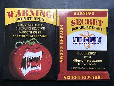SDCC 2018 EXCLUSIVE Attack of the Killer Tomatoes Promo Seed Packet! Real Seeds!